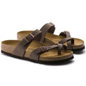Birkenstock Mayari Birkibuc Mocha Thong Sandal